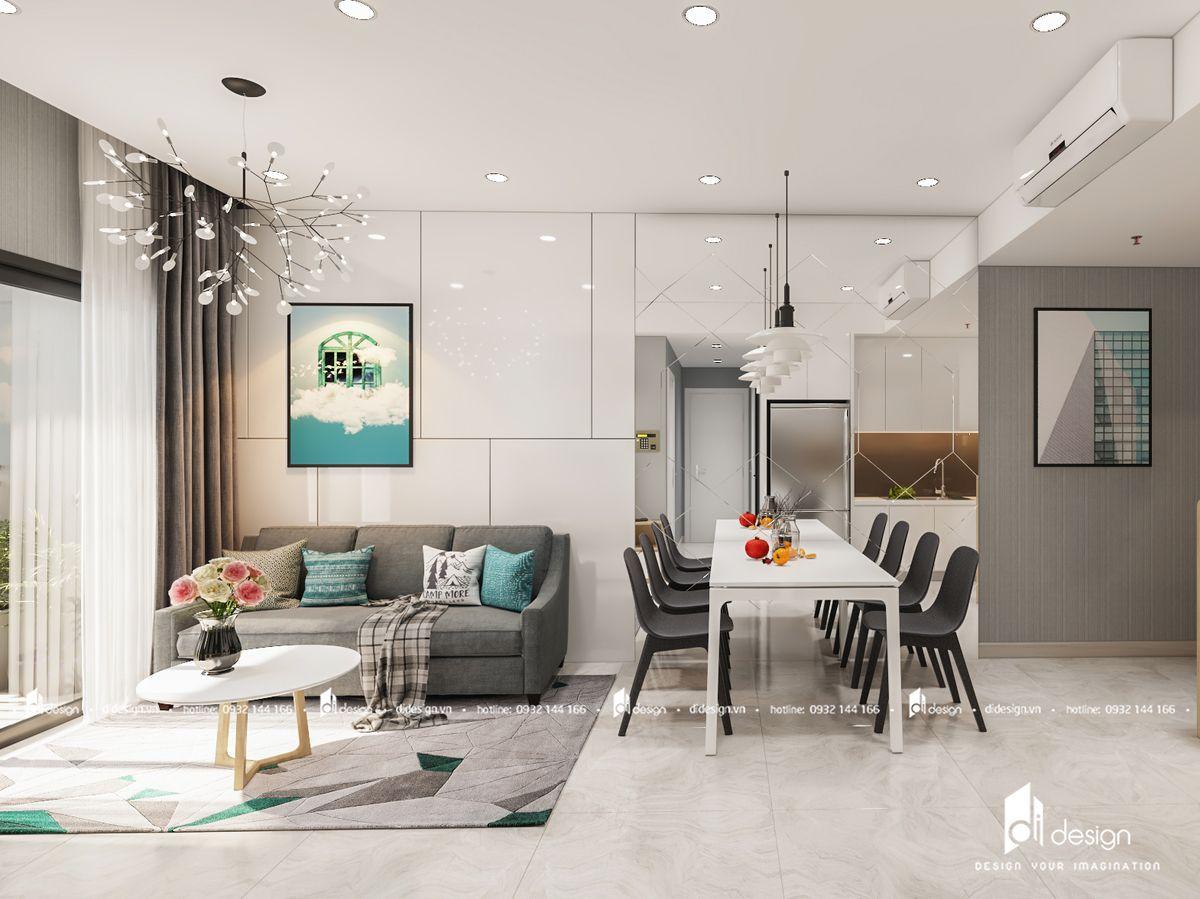 Thiết kế nội thất căn hộ Masteri An Phú 73m2 đẹp hiện đại