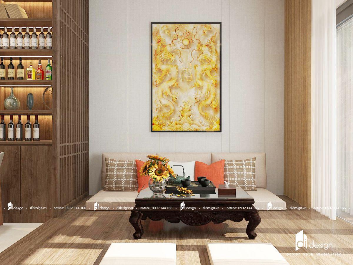 Thiết kế nội thất căn hộ Mizuki Park 86m2 phong cách Nhật 3 phòng ngủ