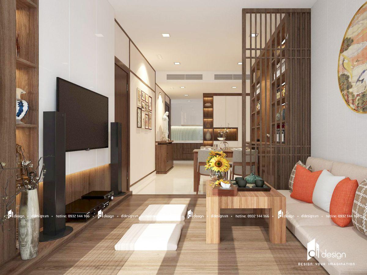 Thiết kế căn hộ Rivera Park 77m2 phong cách Nhật