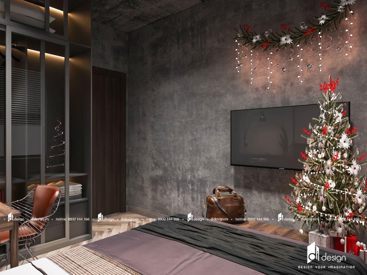 Thiết kế căn hộ Safira Khang Điền 68m2 truyền cảm hứng với trần bê tông và sàn gỗ