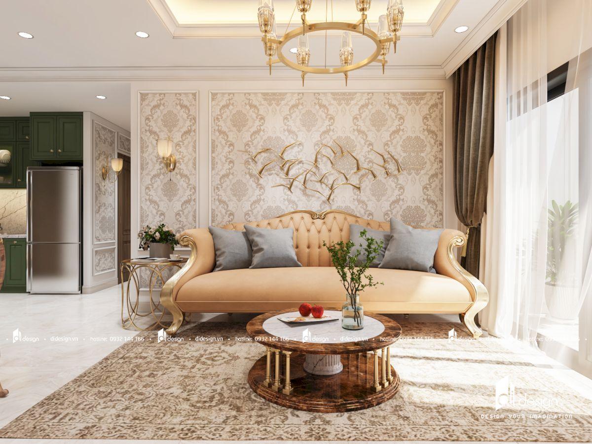 Thiết kế nội thất căn hộ Saigon Gateway 69m2 phong cách tân cổ điển