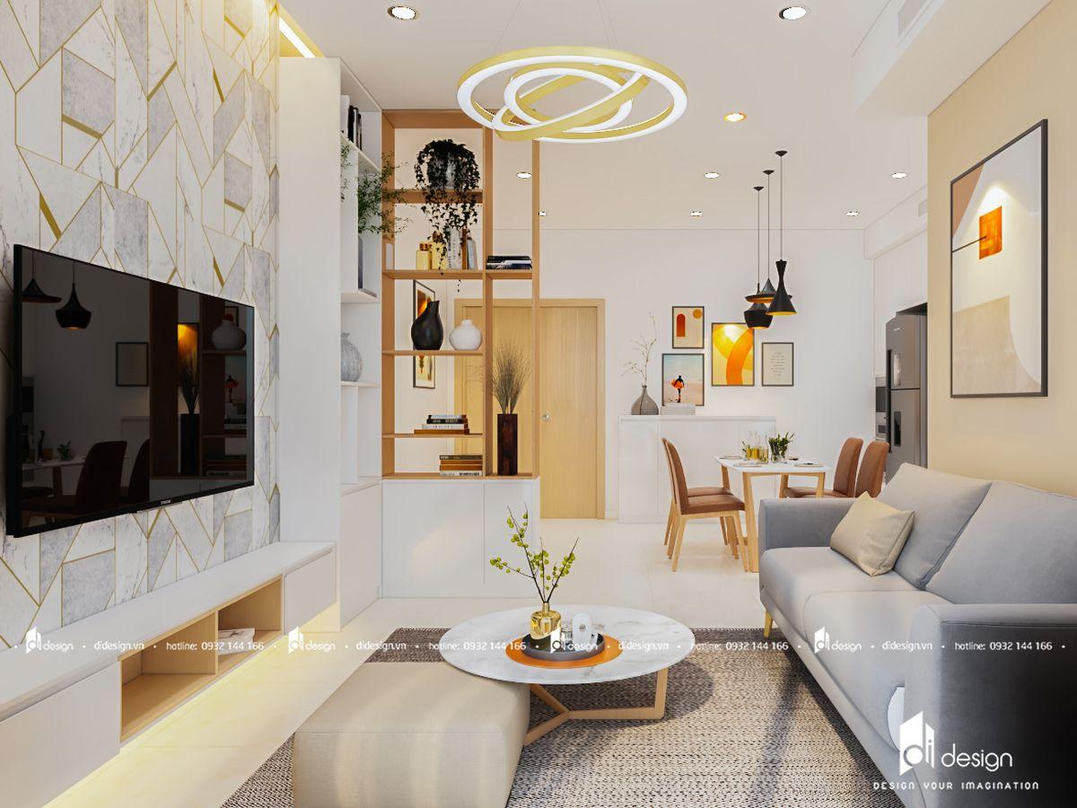 Thiết kế nội thất căn hộ Toky Tower 70m2 hiện đại