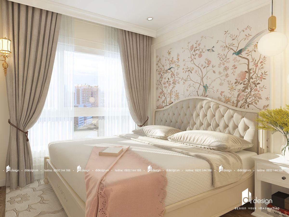Thiết kế nội thất căn hộ Vinhomes Grand Park 55m2 phong cách tân cổ điển