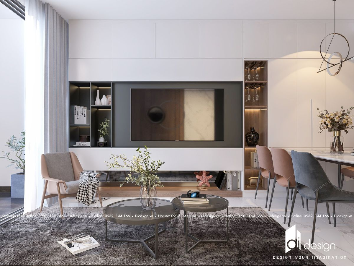 Thiết kế nội thất căn hộ Eco Green SaiGon 84m2 tận hưởng cuộc sống xanh
