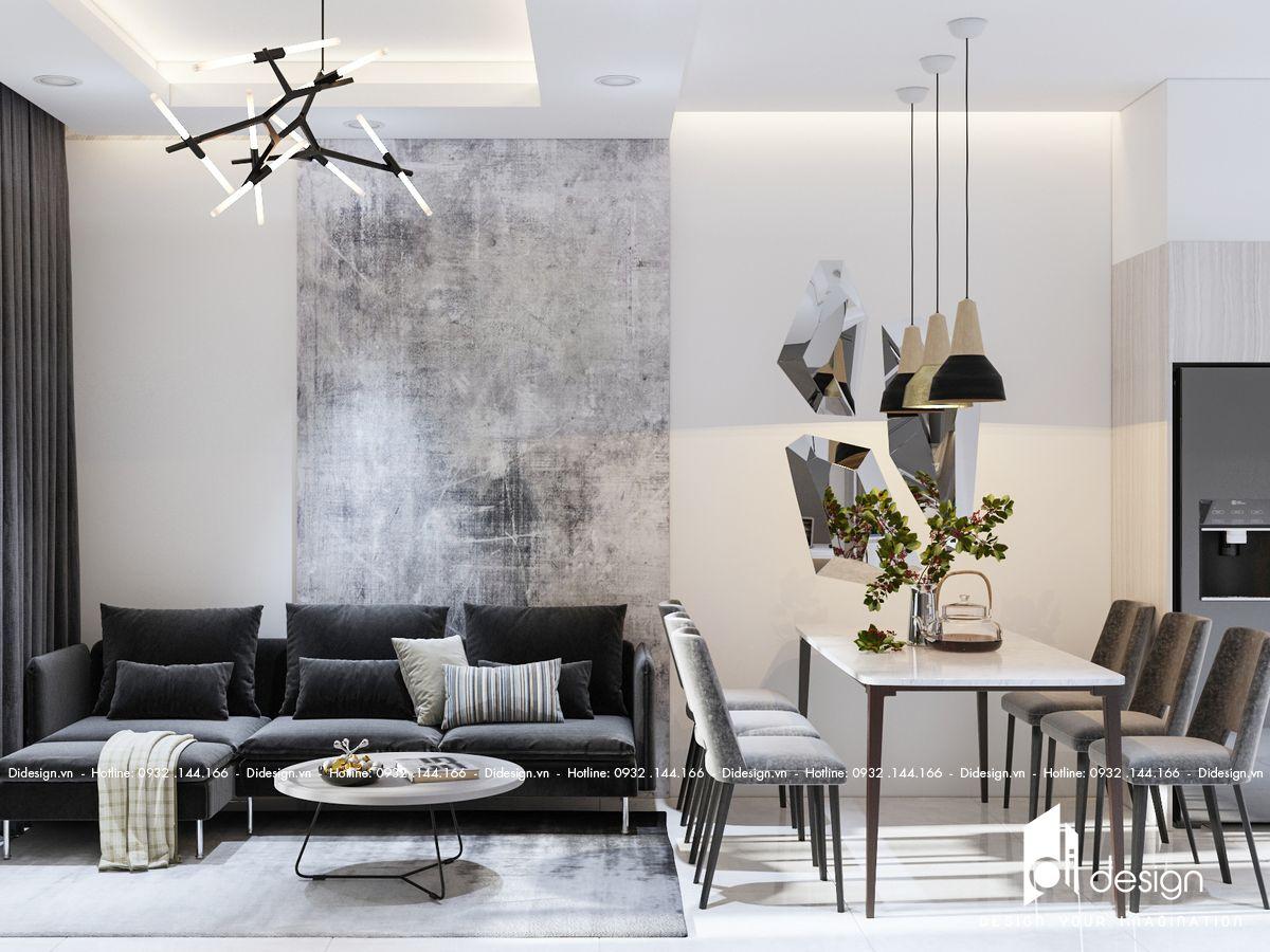 Thiết kế căn hộ Green Town 68m2 toát lên vẻ đẹp gọn gàng và sang trọng