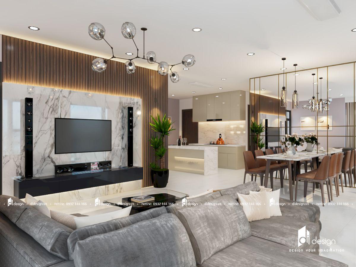 Thiết Kế Nội Thất Căn Hộ KingDom 101 3 phòng ngủ 102m2 phong cách hiện đại