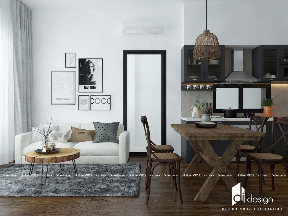 Thiết kế nội thất căn hộ 72m2 Mizuki Park đẹp không muốn bỏ lỡ