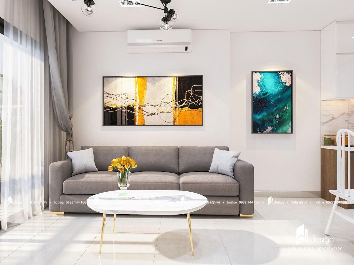 Thiết kế nội thất căn hộ Palm Heights 73m2 phong cách Bắc Âu