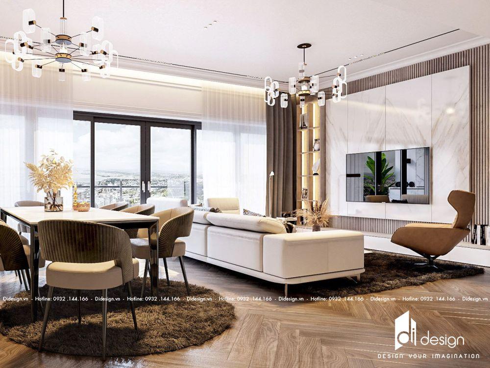 Thiết kế nội thất căn hộ Q2 Thảo Điền 3 phòng ngủ sang trọng, cao cấp 2021