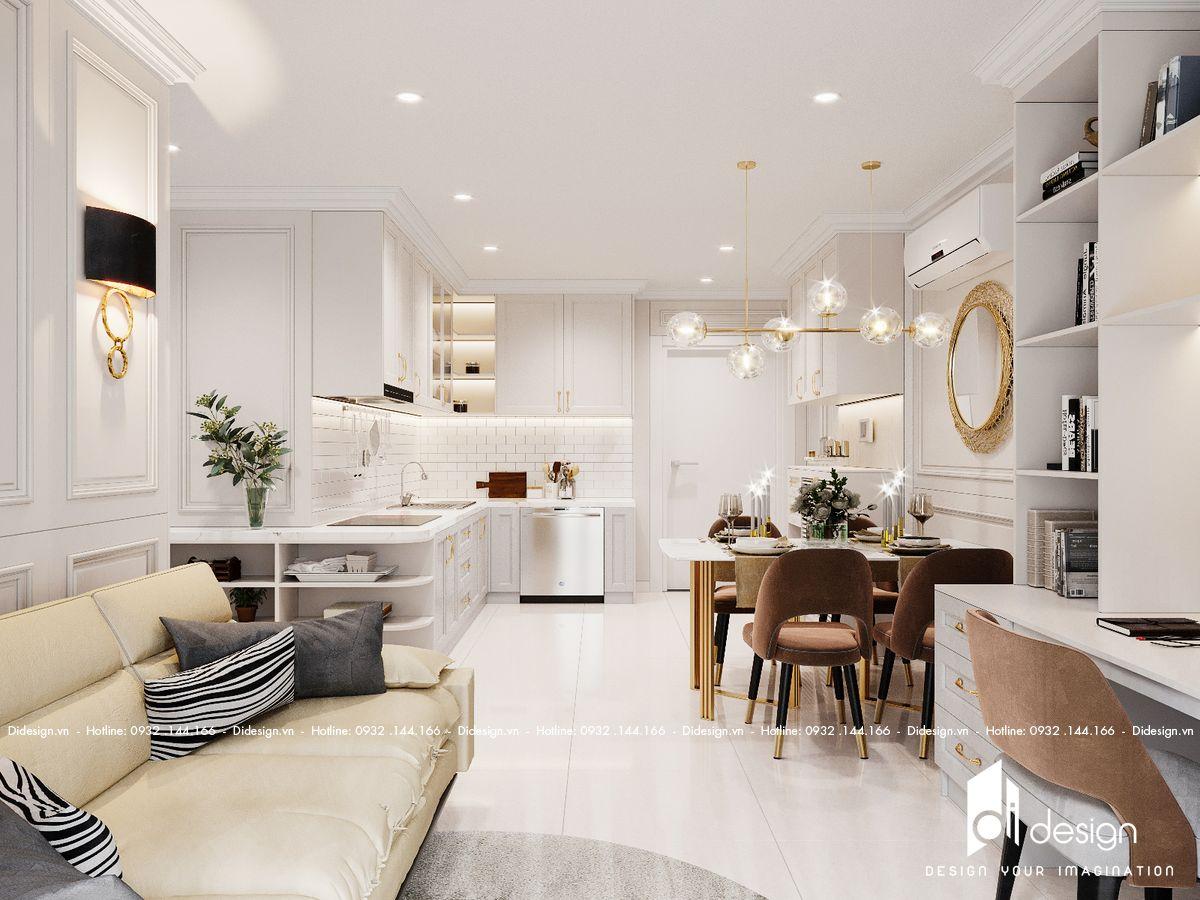 Thiết kế nội thất căn hộ Q7 Boulevard 76m2