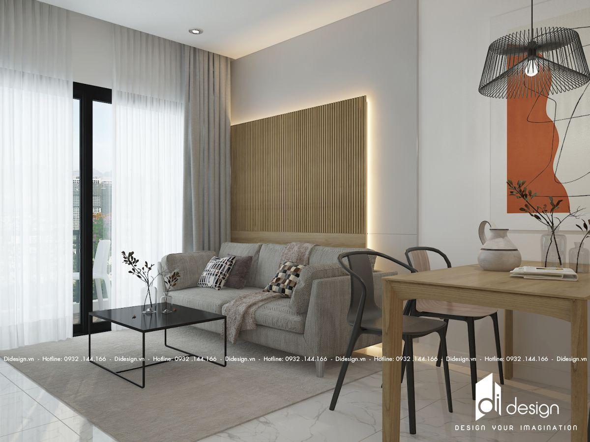 Thiết kế nội thất căn hộ Safira Khang Điền 62m2