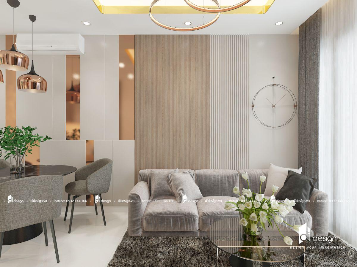 Thiết kế căn hộ Saigon Mia 70m2 hiện đại