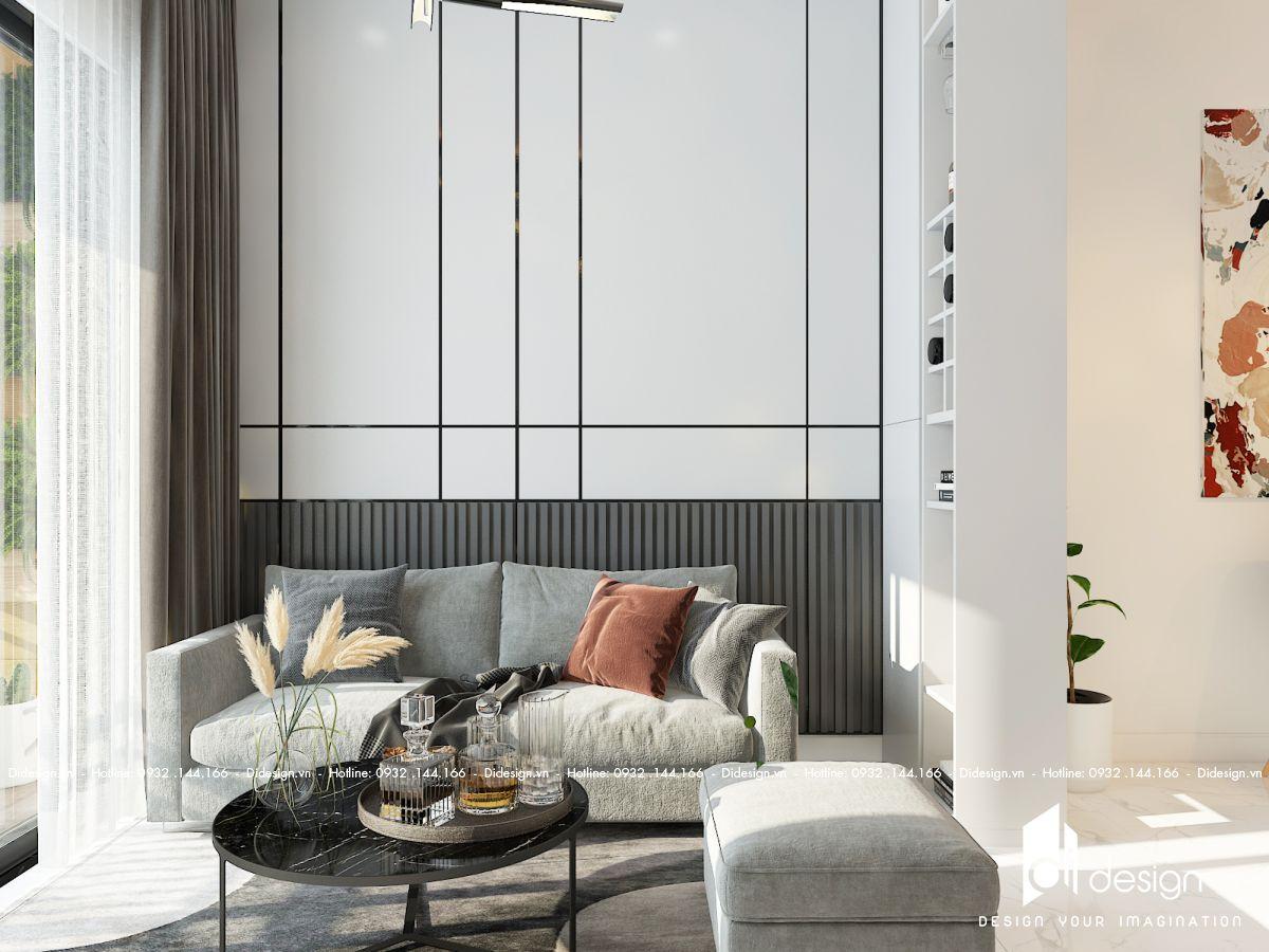 Thiết kế nội thất căn hộ Saigon South Residences 68m2 cá tính với tông màu xám