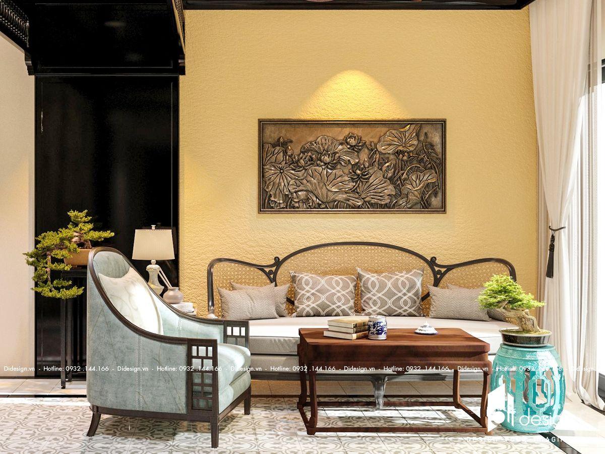 Thiết kế nội thất căn hộ Somerset Feliz 108m2 phong cách Indochine độc đáo, ấn tượng sâu sắc