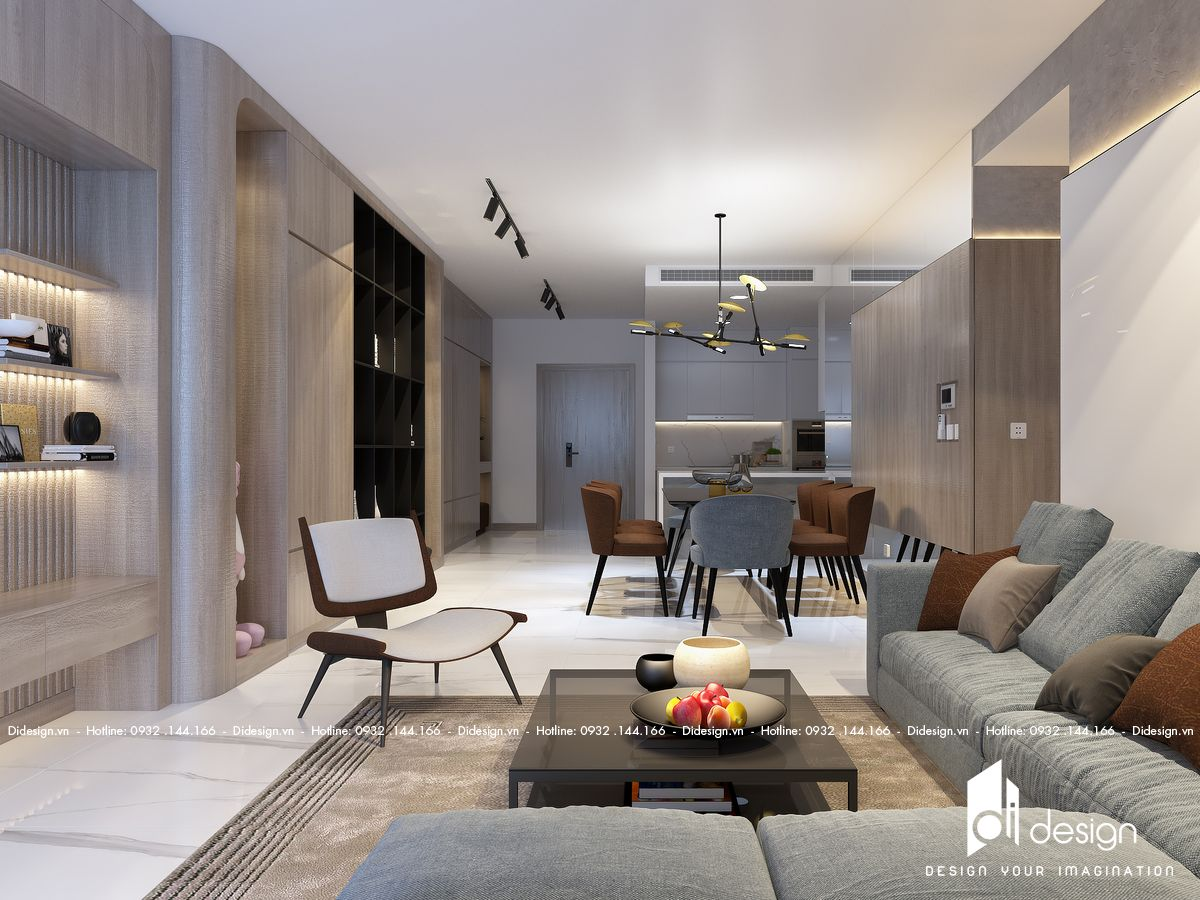Thiết kế nội thất căn hộ Sunwah Pearl 124m2 sang trọng và thanh lịch