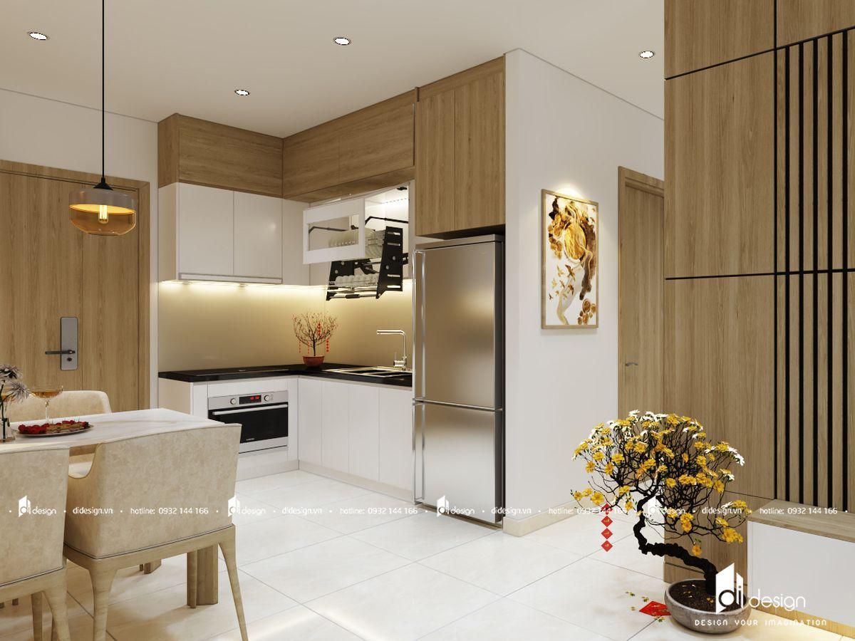Thiết kế nội thất căn hộ Terra Royal 53m2 2 phòng ngủ