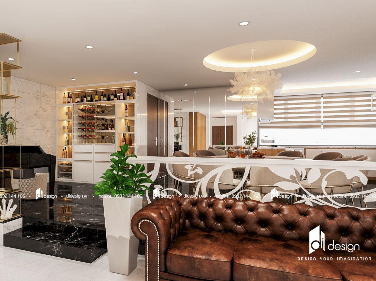 Thiết kế căn hộ Vinhomes 150m2 Landmark 1 hiện đại sang trọng