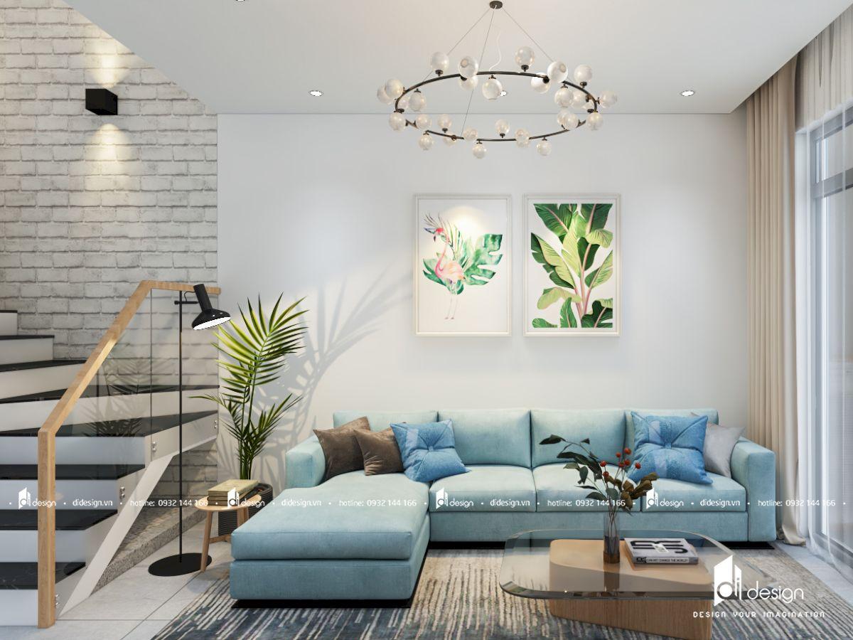 Thiết kế nội thất nhà phố 5x20 đẹp hiện đại