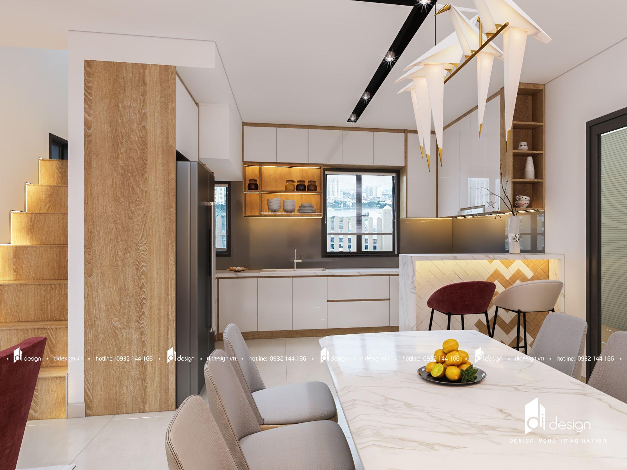 Thiết kế nội thất Nhà phố Camellia 140m2 hiện đại sang trọng