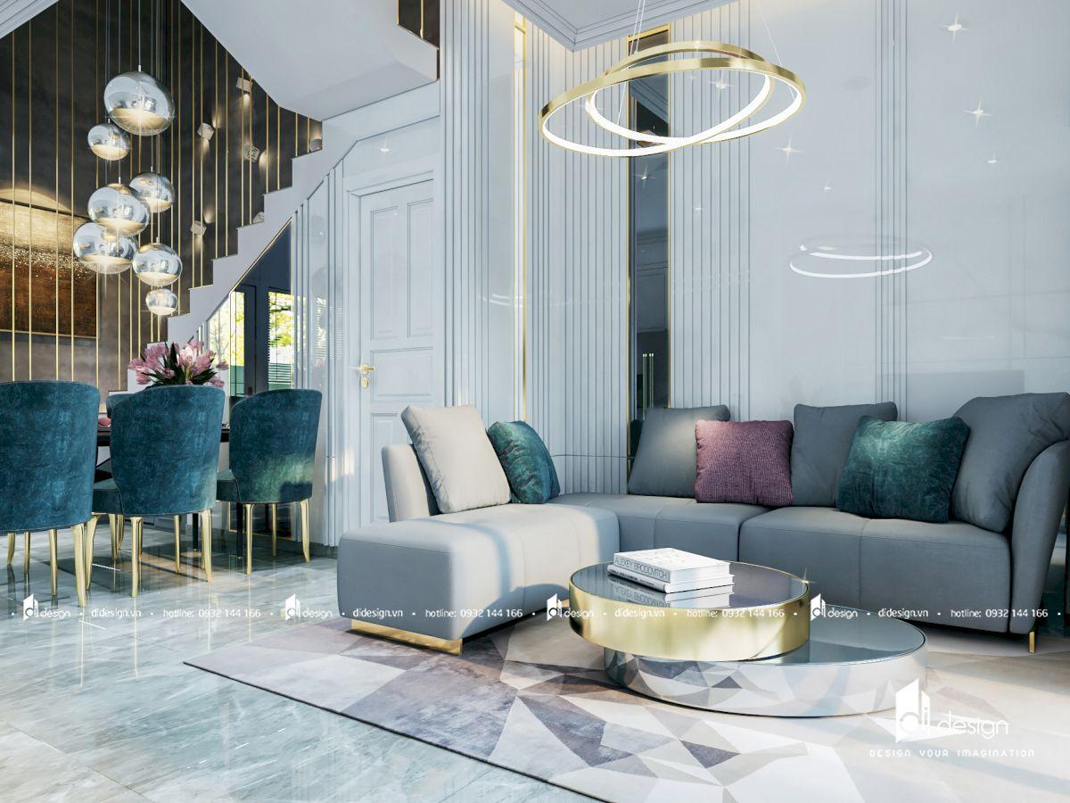 Thiết kế nội thất nhà phố Cityland Park Hills 300m2 tân cổ điển