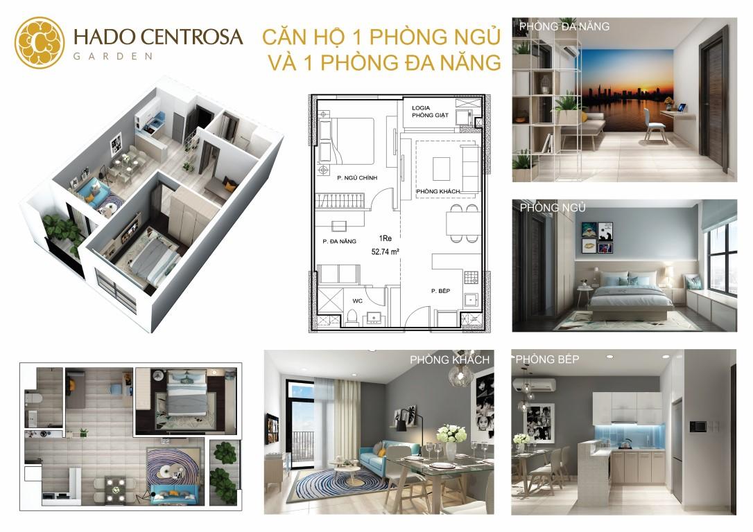 Thiết kế nội thất căn hộ Hà Đô Centrosa Đẹp