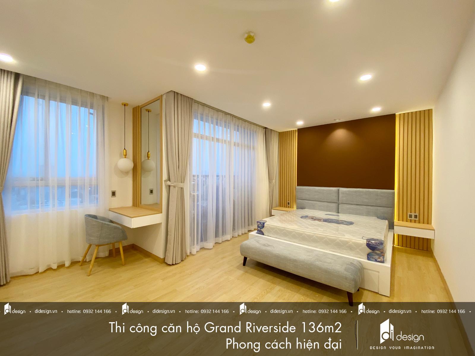 Thi công nội thất căn hộ Grand Riverside 136m2