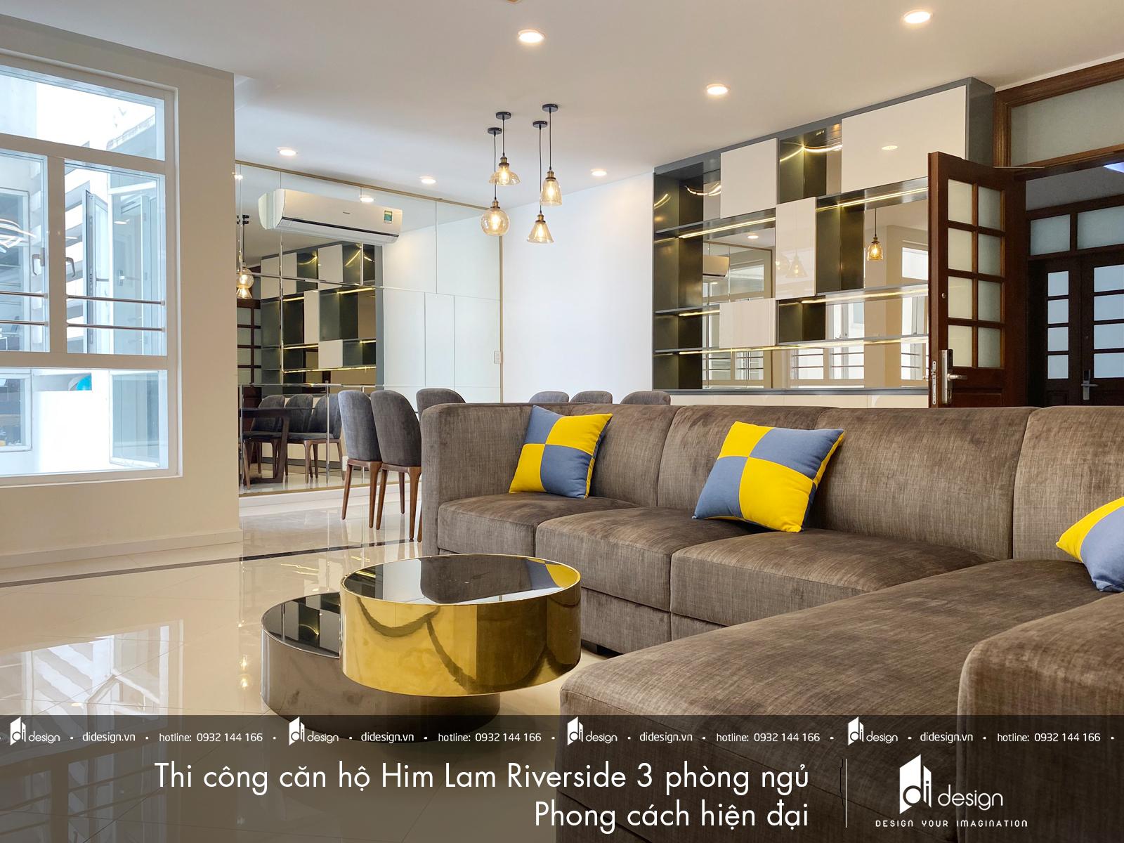Thi công nội thất căn hộ Him Lam Riverside 141m2