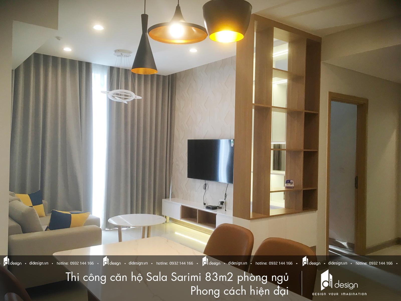 Thi công nội thất căn hộ Sala Sarimi 83m2