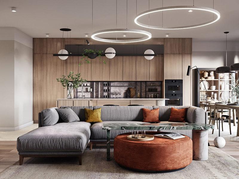 Thiết kế căn hộ 120m2 Citylands Park Hills hiện đại