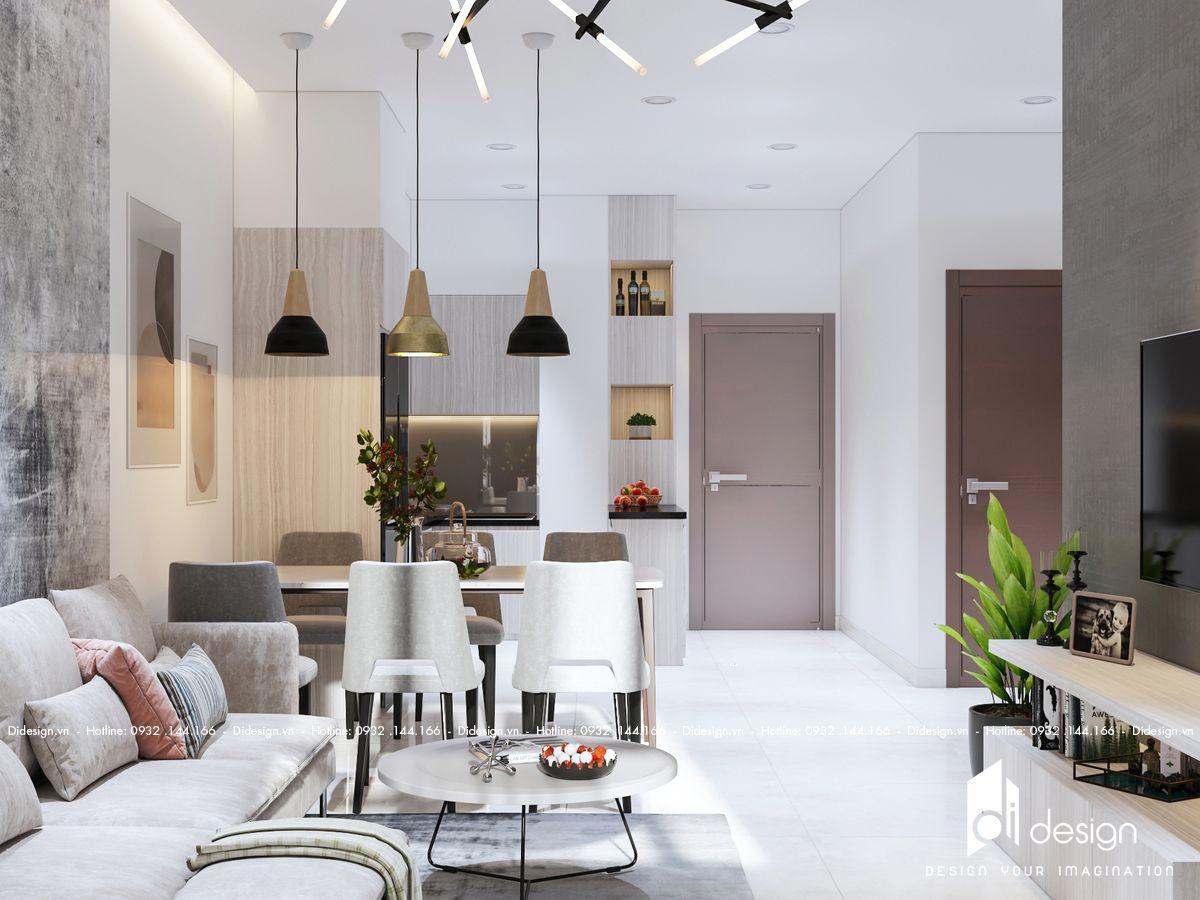 Thiết kế nội thất căn hộ 53m2 Masteri Millennium