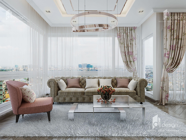 Thiết kế nội thất căn hộ Đảo Kim Cương - Diamond Island 118m2