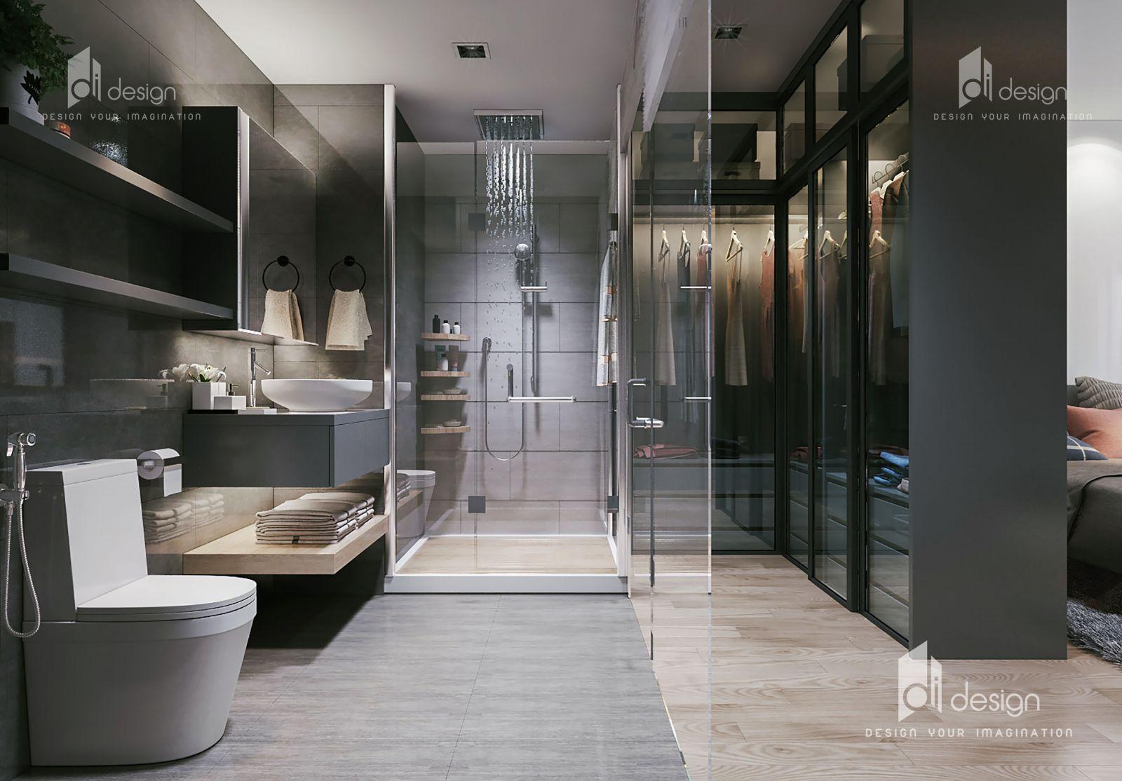 Thiết kế nội thất phòng ngủ hiện đại căn hộ Hà Đô Centrosa