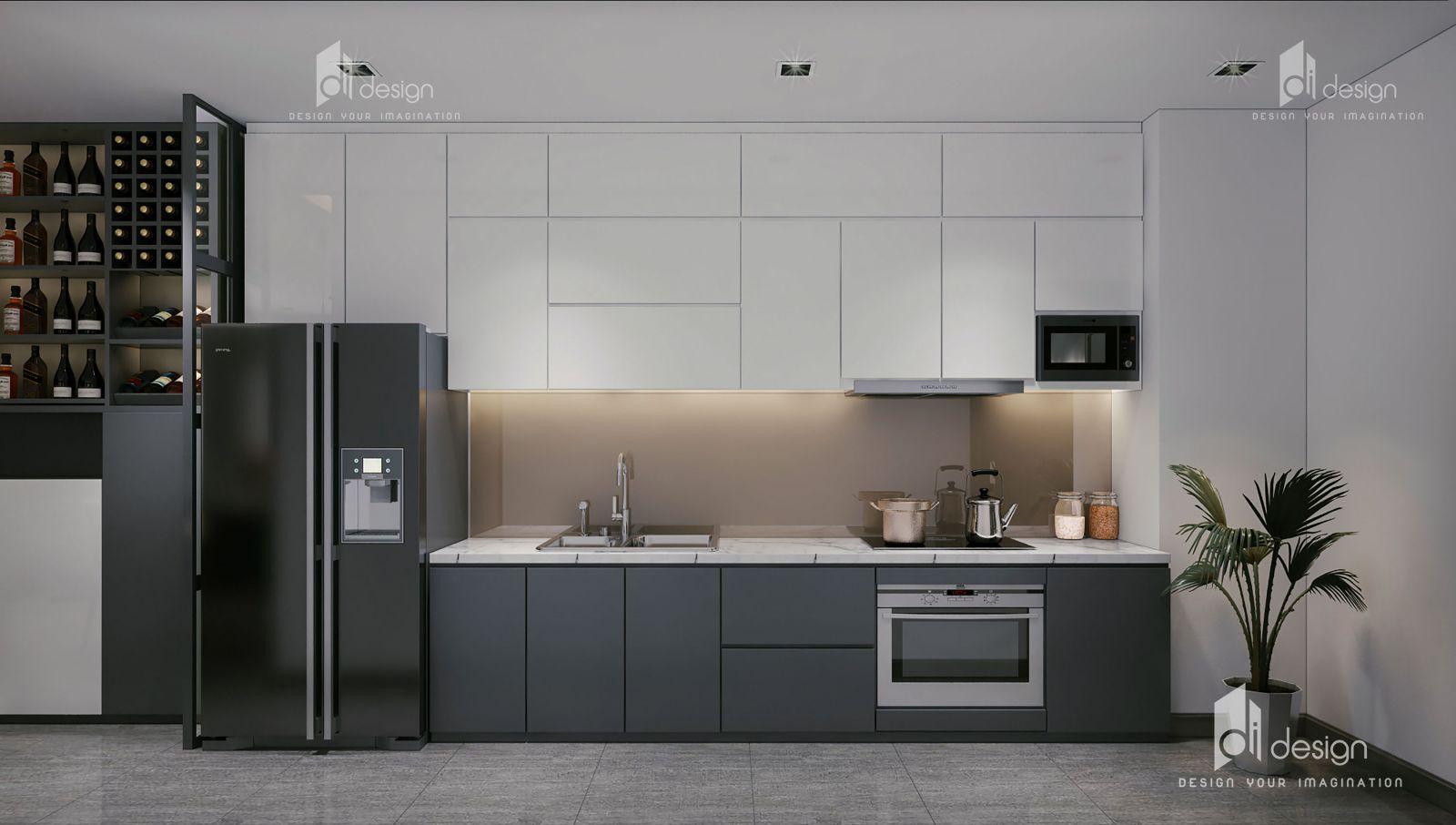 Thiết kế nội thất bếp căn hộ Hà Đô Centrosa
