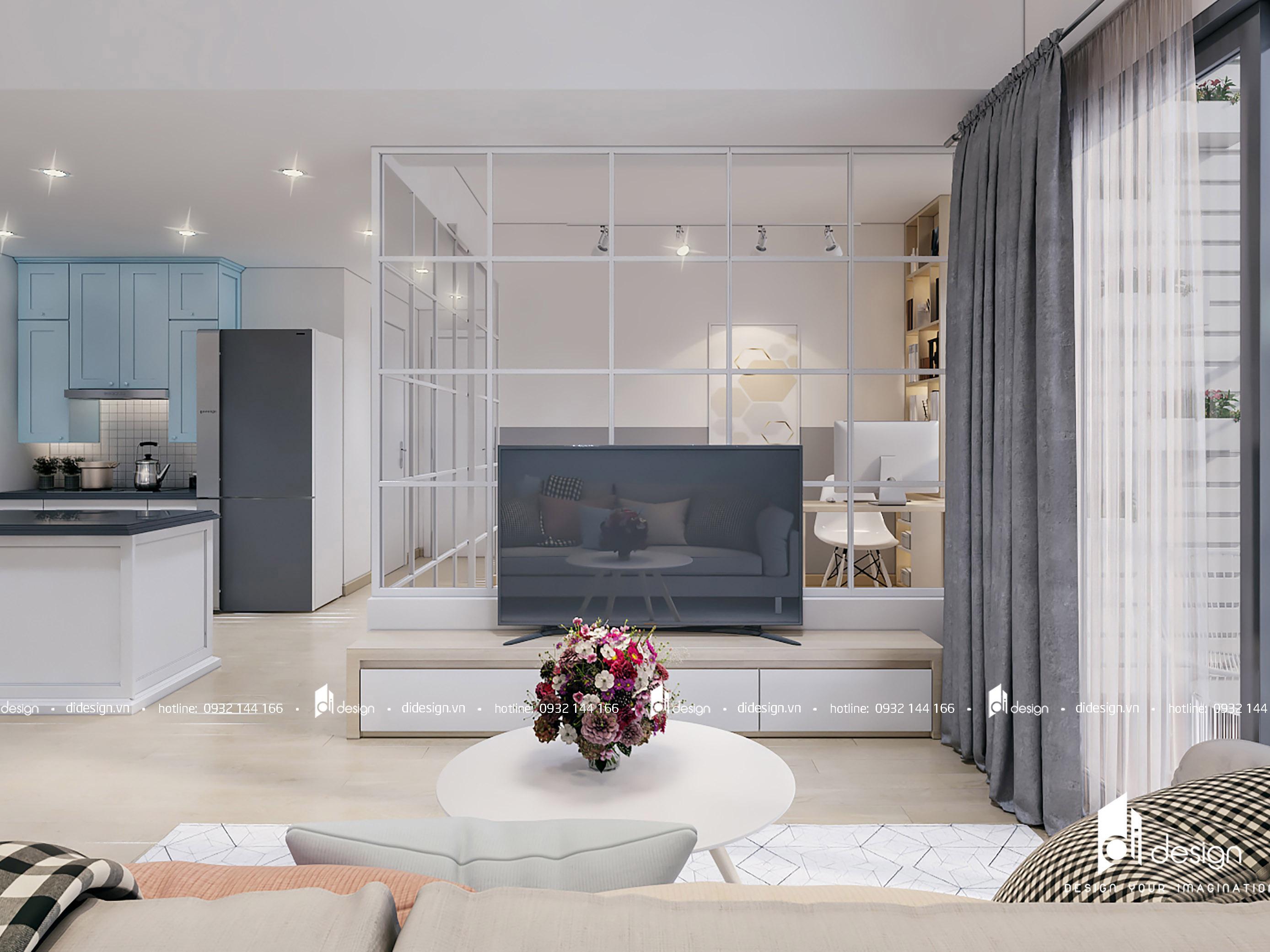 Thiết kế nội thất căn hộ Masteri Thảo Điền 90m2