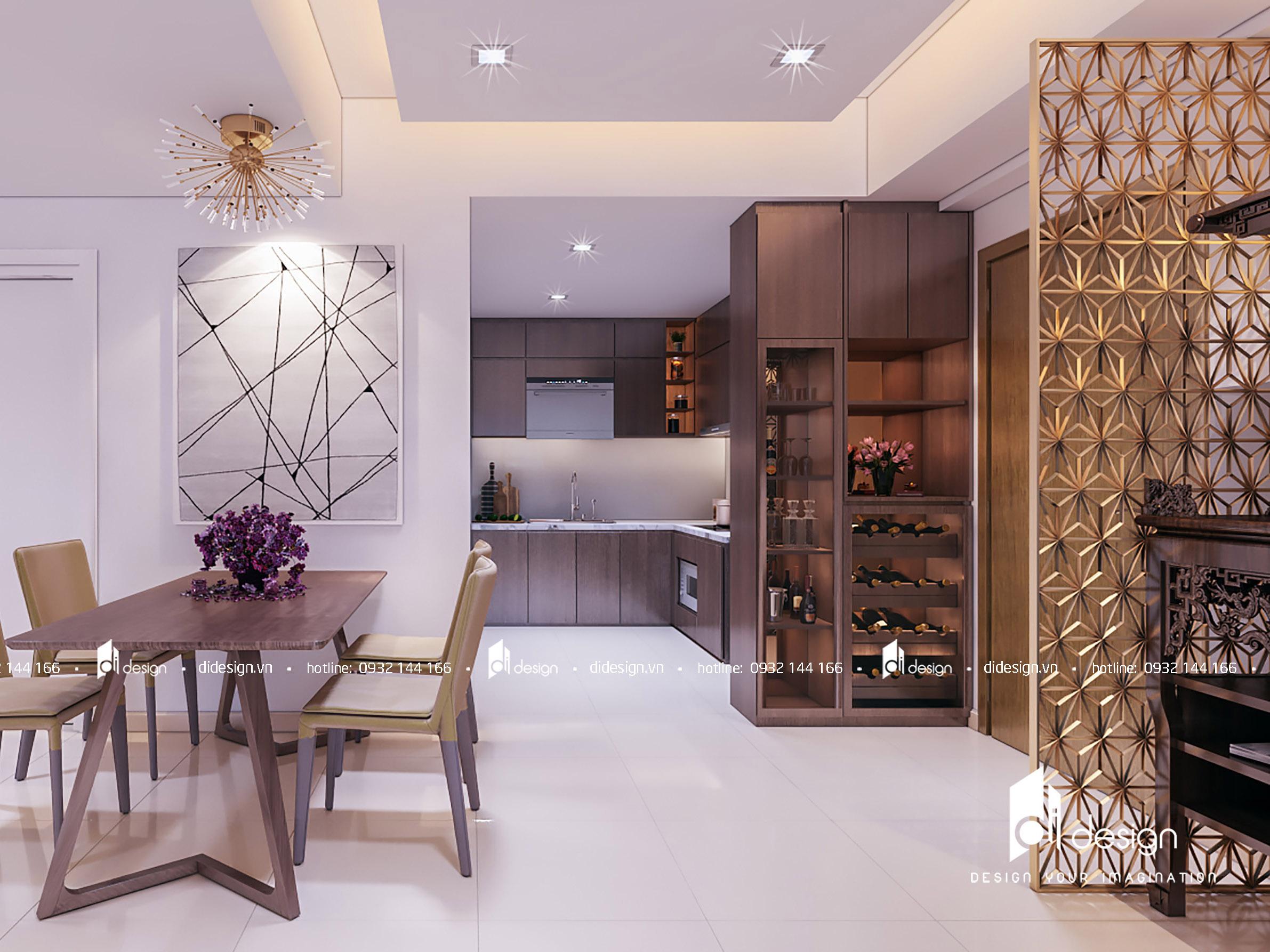 Thiết kế nội thất căn hộ Masteri Milennium 86m2