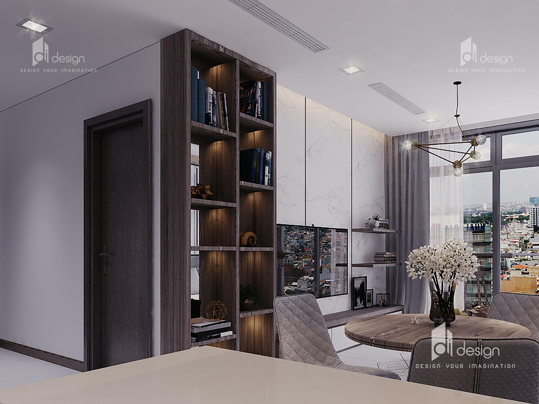 Thiết kế nội thất căn hộ Vinhomes Central Park 64m2