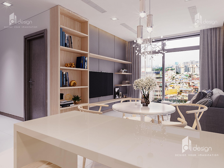 Thiết kế nội thất căn hộ Vinhomes Central Park 65m2