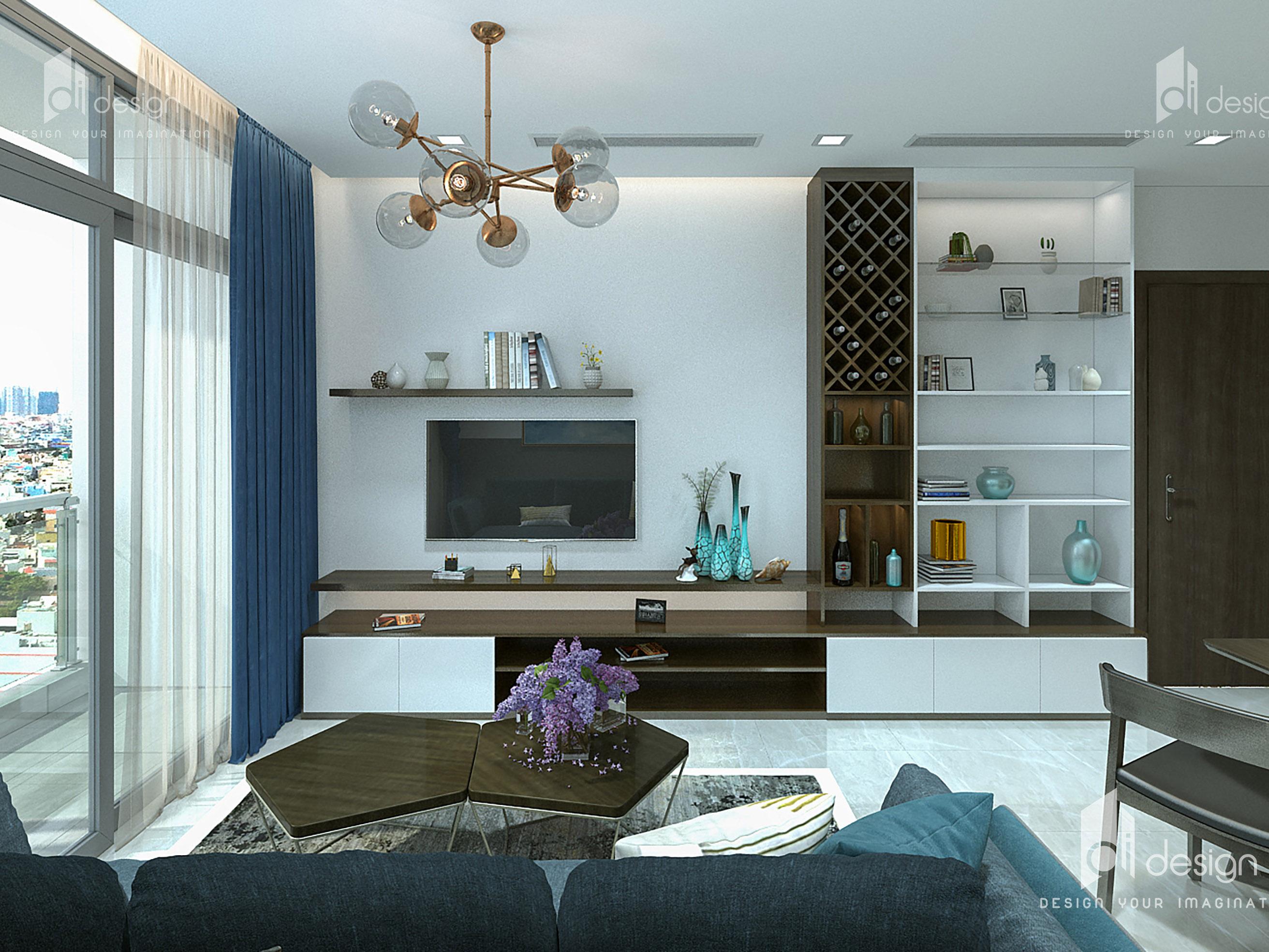Thiết kế nội thất căn hộ Vinhomes Bason 63m2