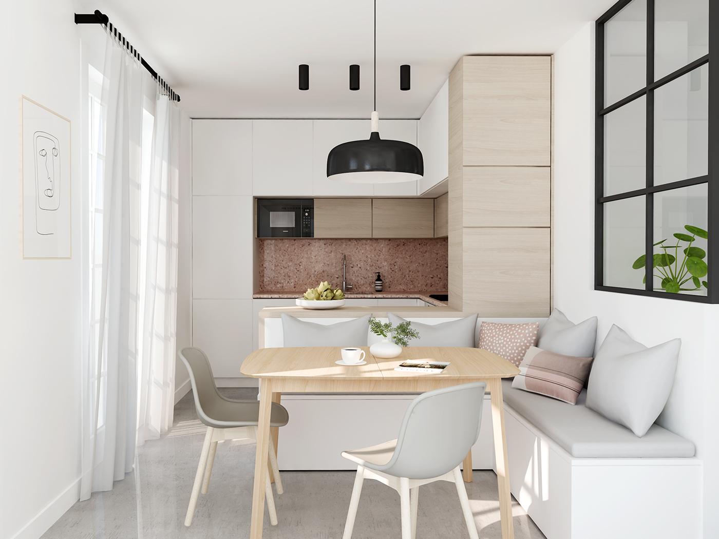 Thiết kế nội thất căn hộ 45 m2 Carillon 5