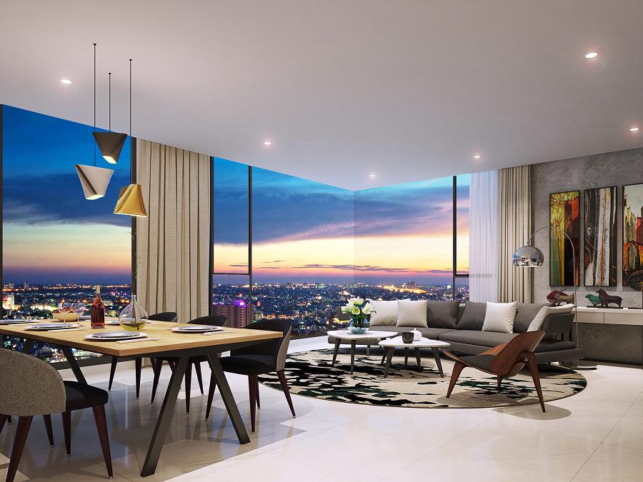 Thiết kế nội thất căn hộ 102m2 Kingdom 101