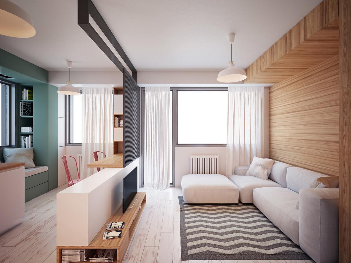 Thiết kế nội thất căn hộ 47m2 Jamila Khang Điền