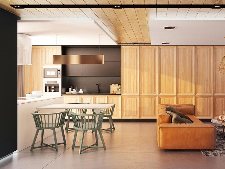 Thiết kế nội thất căn hộ 96m2 Moonlight Boulevard 2019