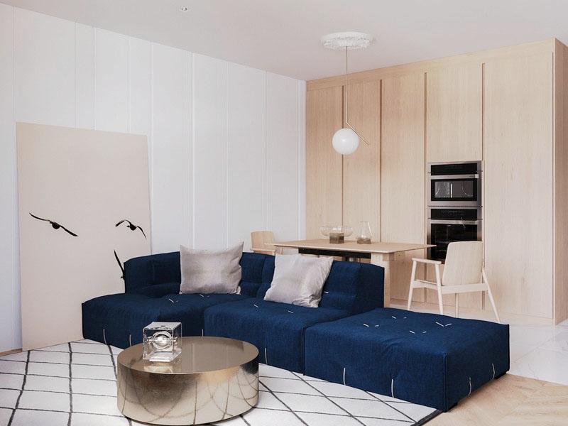 Thiết kế nội thất căn hộ Eastern quận 9 ấm áp