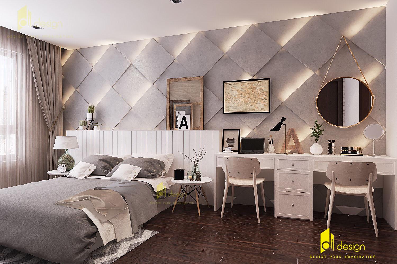 Thiết kế nội thất phòng ngủ căn hộ chung cư Richstar 99m2