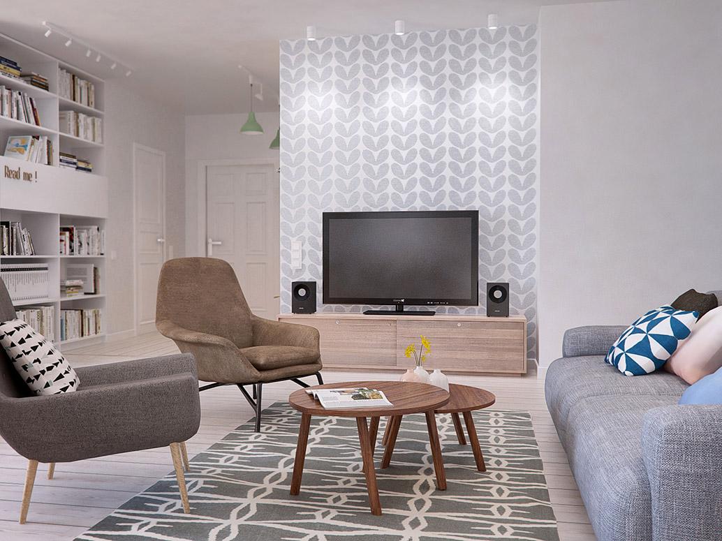 Thiết kế nội thất căn hộ D1 Mension 93m2 2019