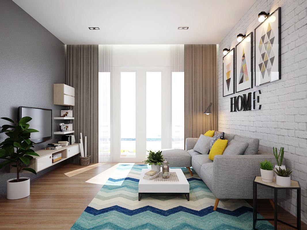 Thiết kế nội thất căn hộ Dreamhome Riverside quận 8 đẹp tinh tế