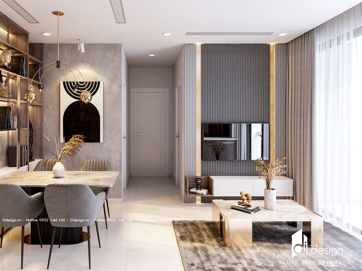 Thiết kế nội thất căn hộ Eco Green Sài Gòn 74m2 tiện nghi
