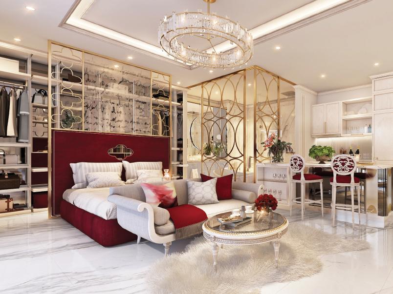 Thiết kế căn hộ Thành Rome Sài Gòn 51m2 lãng mạn