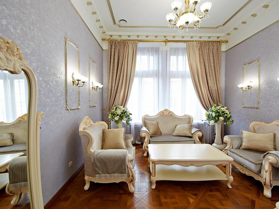 Thiết kế nội thất phòng khách cổ điển 2019