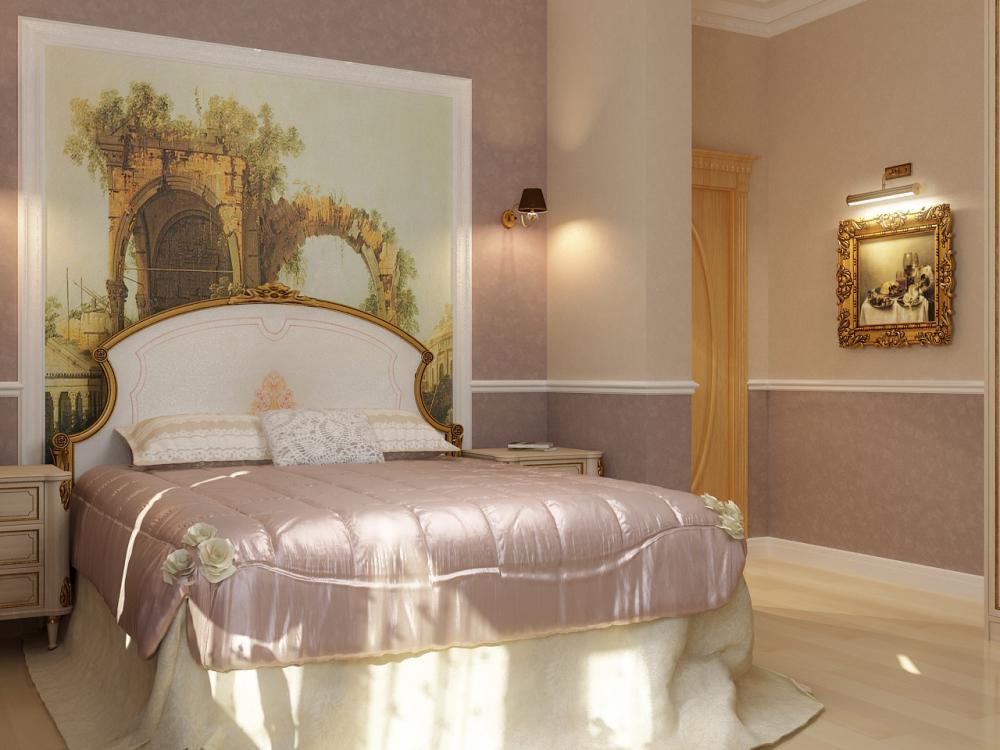 Thiết kế nội thất phòng ngủ cổ điển căn hộ Cityland Park Hills 130m2